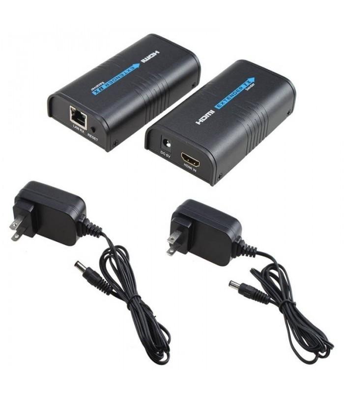 Extensor de video  HDMI sobre IP/TCP Cat5/5e/6/6e Rj45 UTP/STP Ethernet Lan Switch Network soporta 120m 1080P Full HD HSV373