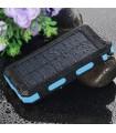 Cargador portátil solar de 20000 mAh,  luz LED para 2 cargadores USB y   incorporada con brújula