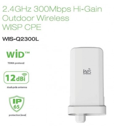 Access Pointe de exterior 2.4GHz 300Mbps Outdoor Hi-Power WIS-Q2300