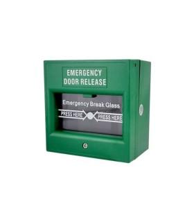 Boton De Emergencia Con Ruptura De Vidrio Para Liberacion De Puertas