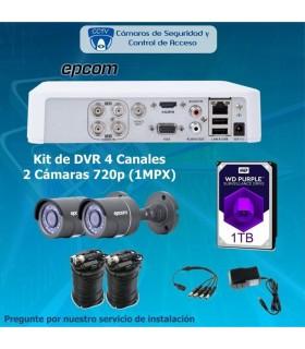 COMBO 4X2 DVR 4 Canales 2 cámaras bala COM4X2EPCOMBALA