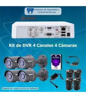 COMBO 4X4 DVR 4 Canales 4 cámaras bala COM4X4EPCOMBALA