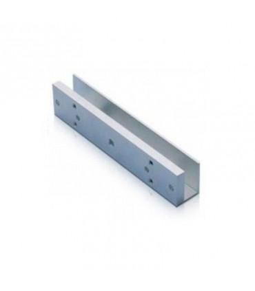 Soporte en U con cierre magnético ZkTeco AL-280U para puerta de vidrio