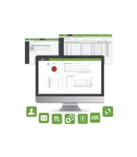 BIO-TIME-7 Software para gestión de tiempo y asistencia Centralizado Basado en web
