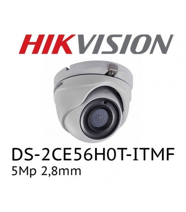 Cámara Hikvision DS-2CE56H0T-ITMF Turbo HD 5Mp lente 2.8mm 20 infrarrojo