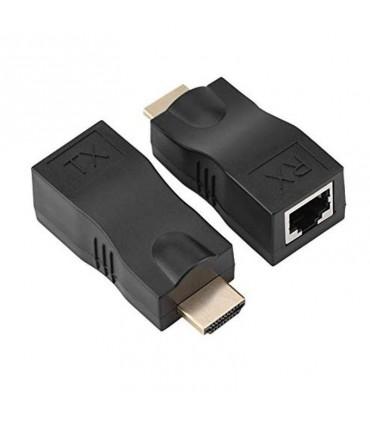Extensor de Video HDMI por medio de UTP Cat 5e/6 1080P hasta 30m HRJ45