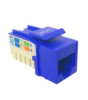 EPA042 Dado 90 Grados Cat6 Color Azul, Tipo Keystone