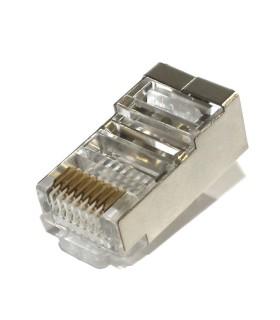 Conector Blindado RJ45 para Cable UTP Cat5e