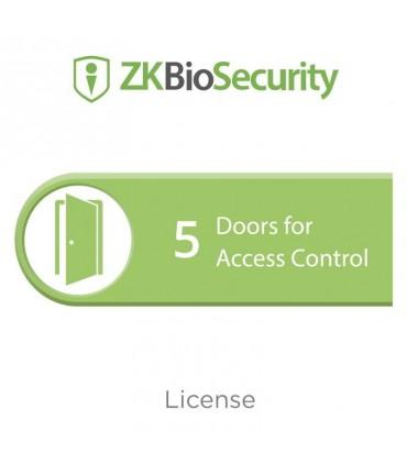 Licencia para ZKBiosecurity ZKBS-AC5 permite gestionar hasta 5 puertas para control de acceso