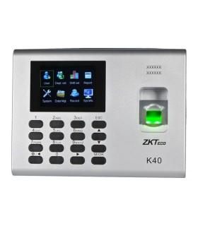ZK K40 - Control de acceso y asistencia simple / 1000 Huellas / TCPIP / Descarga de USB en hoja de calculo / 2 Horas de respaldo