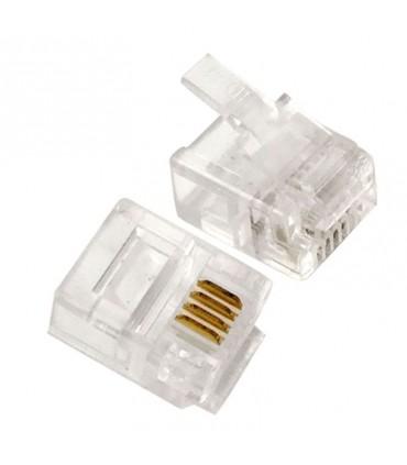 Conector Rj11 para cable de 4 hilos de teléfono RJ11