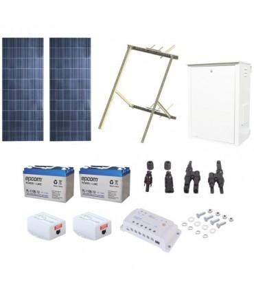 Kit Solar de 17 W con PoE Pasivo 24 Vcd para 2 Radios de Ubiquiti airMAX PL-1224G-2R