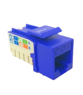 EPA05 Dado 90 Grados Cat5e Color Azul, Tipo Keystone