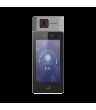 DS-K1T671TM-3XF Biométrico Facial con Medición de Temperatura Corporal / Notificación por Temperatura Alta o Falta de Cubrebocas