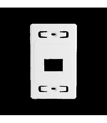 Placa de pared modular MAX, de 2 salidas, color blanco, version bulk (Sin Empaque Individual)