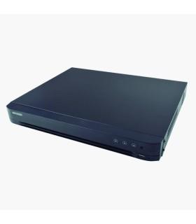 DS-7208HTHI-K2 DVR 4K (8 Mpx) 8 Ch TURBOHD + 8 Ch IP, 2 Bahías de Disco Duro, H.265+ 4 Ch de Audio, 8 Entradas de Alarma