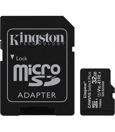 SDCS2/32GB Kingston Canvas Select Plus - Tarjeta de memoria flash (adaptador microSDHC a SD Incluido) - 32 GB