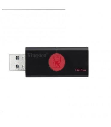 DT106/32GB Memoria USB Kingston DT106 32GB Color Negro con Rojo