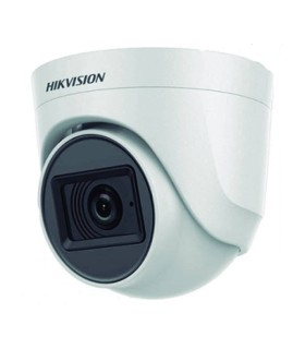 DS-2CE76H0T-ITPFS Cámara Tipo Domo De 5 Mpx con microfono incorporado  IR 20mts, plástica, / Hikvision