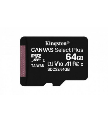 SDCS2/64GB Kingston Canvas Select Plus - Tarjeta de memoria flash (adaptador microSDXC a SD Incluido) - 64 GB