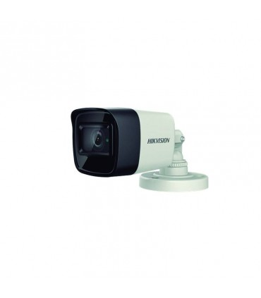 DS-2CE16H0T-ITPFS Cámara Bala Turbo 5 Mpx, lente fijo 2.8mm, IR 20 mts, plástica, Micrófono incorporado