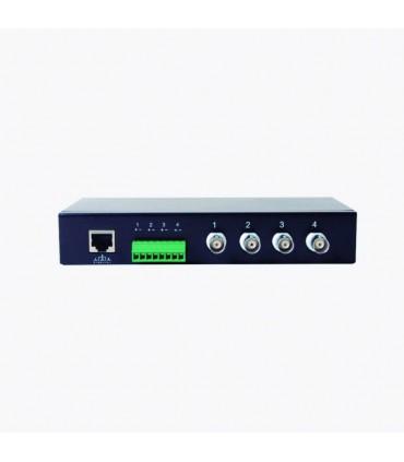 TT-104-TURBO Receptor de video pasivo de 4 canales TurboHD para aplicaciones de video por UTP cat5e/6 en alta definición