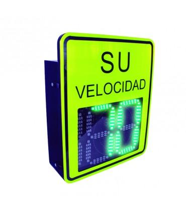 X-RADAR1 Radar Medidor de Velocidad de 3 Digitos, Salida Relevador, Bluetooth, Detección Exceso de Velocidad