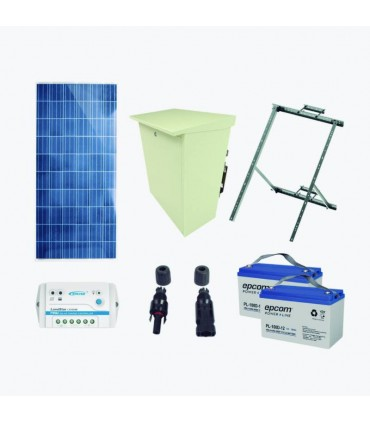 PLRAD-FV Kit de energía solar de 12 Vcd para alimentar radar de velocidad