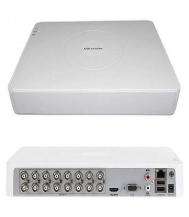 DS-7116HQHI-K1 Dvr Slim Turbo 16 canales, resolución máxima 4Mpx lite, TVI, AHD, CVI, 1 slot para HD