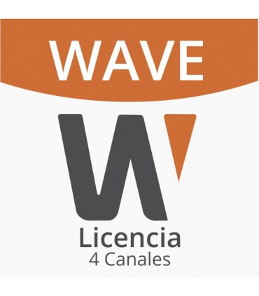 WAVE-EMB-04 Licencia Wisenet Wave Para 4 Canales de Grabador Hanwha