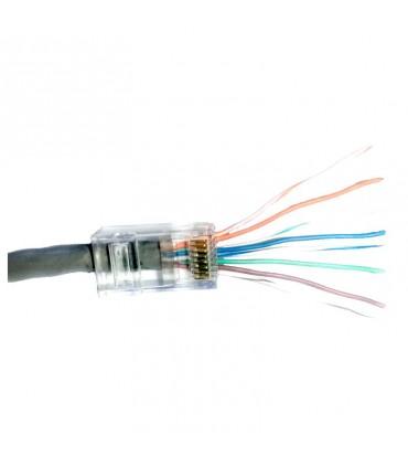 TC5-PASS Conector Plugs Pass through RJ45 Cat5e