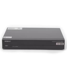 XRN-410S NVR 8 Megapíxel- 4 canales, 4 puertos PoE-PoE+- H.265 & WiseStream- P2P Wisenet- Entradas y Salidas de Alarma
