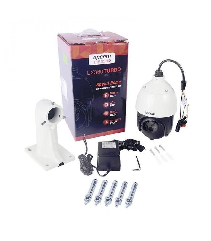 LEGEND TurboHD 720p, Cámara bala HÍBRIDA (Analógico 1200TVL / HD-TVI 720p) Lente 3.6mm e IR inteligente EXIR OCULTO para 40