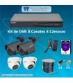 COMBO DVR DE 8 CH Y 4 CAMARAS 1080P COM8x4C1080P