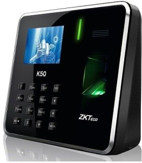 ZKTeco - K50 - Sistema de reloj registrador Biométrico y Tarjeta